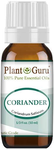 Coriander Essential Oil 10 ml. 100% Pure, Undiluted, Therapeutic Grade. by Plant Guru