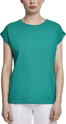 Urban Classics ErwachsenDamen Ladies Extended Shoulder Tee T-Shirt, Fresh Green, L (100 Baumwolle T-shirt)
