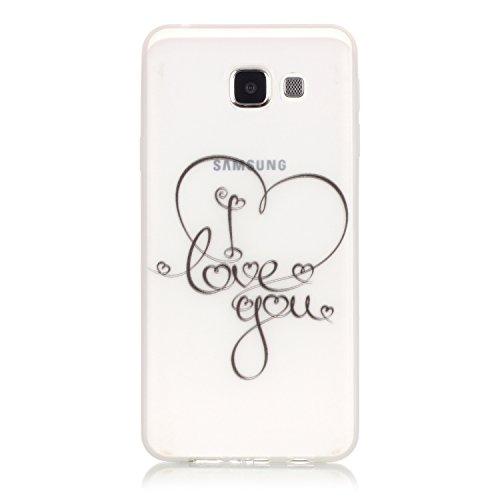 CaseHome Samsung Galaxy A3 (2016)/A310F Luminous Hülle (Mit Frie Displayschutzfolie) Leuchtende Silikone Rückhülle Für iPhone 6 6s Plus 5.5 Zoll Zoll Silikon Etui Handy Hülle Weiche Transparente Lumin Ich liebe dich