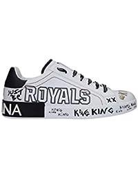 Dolce E Gabbana Sneakers Uomo CS1587AK160HWF57 Pelle Bianco 21bd2d893b8