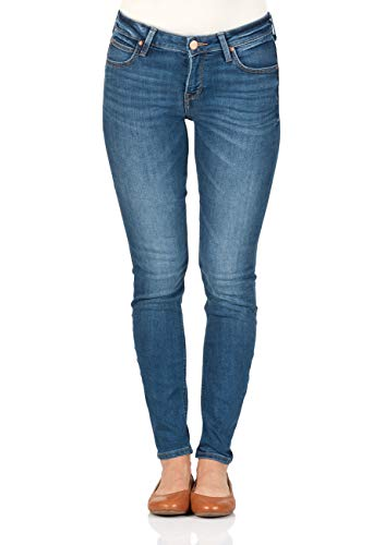 Lee Damen Jeans Scarlett - Skinny Fit - Blau - Midtown Blues, Größe:W 27 L 31, Farbe:Midtown Blues (HAOE)