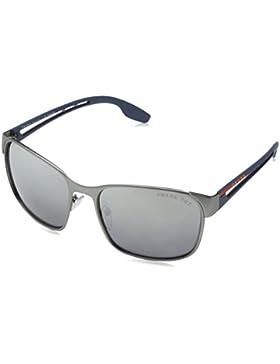 Prada Linea Rossa 0PS 52TS, Gafas de Sol para Hombre, Gunmetal Rubber, 59