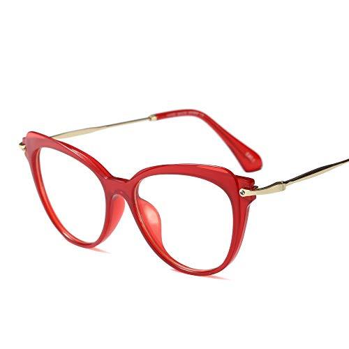 Shengjuanfeng-brillen Retro Round Face Ultra Light Brillengestell, Brillenglas für Damen. Accessoires (Farbe : Red)
