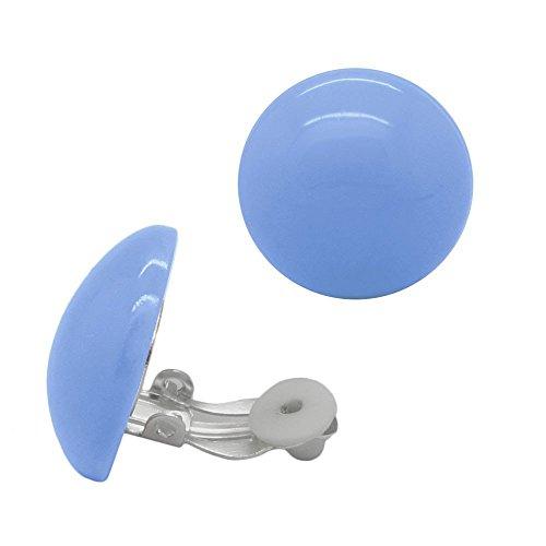 SoulCats® 1 Paar Ohrclips aus Plastik in der Farbe blau