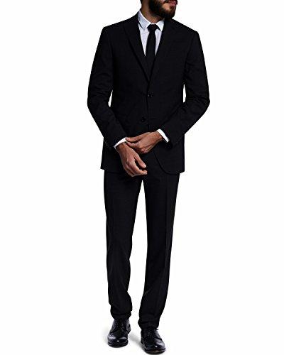 BARUTTI Anzug, Slim-Fit, Savino/Sodio schwarz in 118 (Business-anzug Wolle-italienische)
