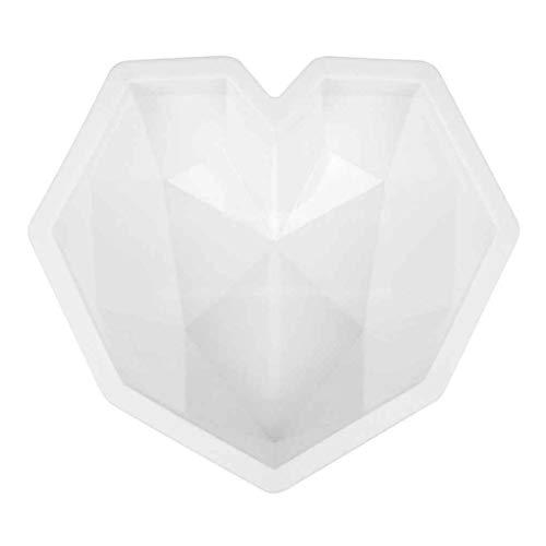 Kakiyi Silikon-Mousse-Kuchen-Form-Liebes-Herz-geformte einzelne Loch-Kuchen-Dekoration-Form DIY Backenwerkzeug