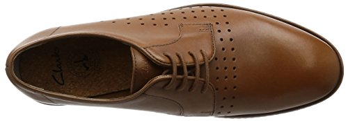 Clarks Tulik Edge, Scarpe Stringate Derby Uomo Marrone (Tan Leather)