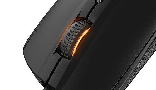 SteelSeries Rival 100 Optische Gaming-Maus (6 Tasten, RGB-Beleuchtung) schwarz - 7