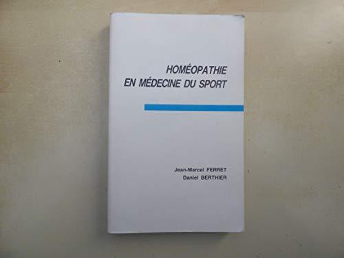 L'Homéopathie en médecine du sport