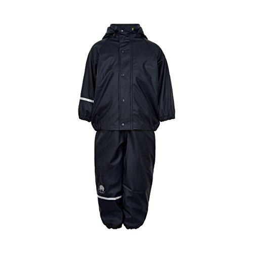 CeLaVi Kinder Jungen Regenanzug, Gefüttert, Hose und Jacke, Alter: ab 8 Jahren, Größe: 130, Farbe: Dunkelblau, 310125
