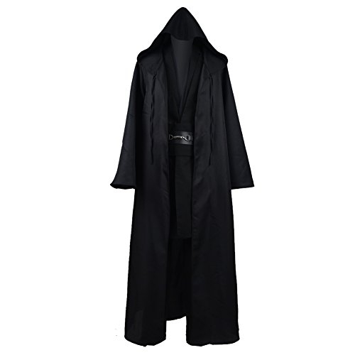 Zhangjianwangluokeji Jedi Knight Anakin Luke Skywalker Kostüm Cosplay Mantel Cosplay Kostüm Halloween Robe Outfit Anzug Mantel (XS, Style 3)