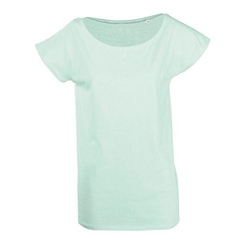 SOLS Marylin Damen T-Shirt, Kurzarm, Tiefer Rundhalsausschnitt Schwarz