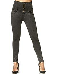 148baf2c4c Amazon.es  Pantalones Cintura Alta - 38   Pantalones   Mujer  Ropa