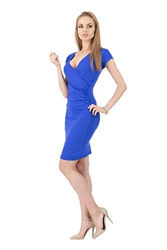 KingField - Robe - Crayon - Manches Courtes - Femme Bleu