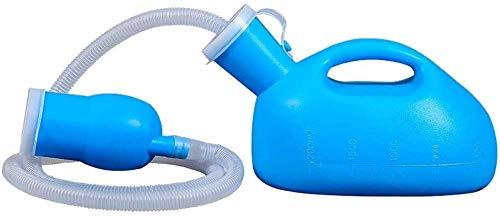 2 in 1 Urinflasche - für Herren, Urinbehälter mit Anti-Geruchverschluss für Alten Mann und gelähmte Patienten - Tragbare Urinflasche Kapazität für dicken Urinbehälter