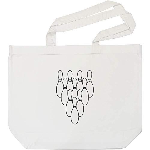 Azeeda 'Bowling Kegel' Weiße Einkaufstasche (BG00004305)