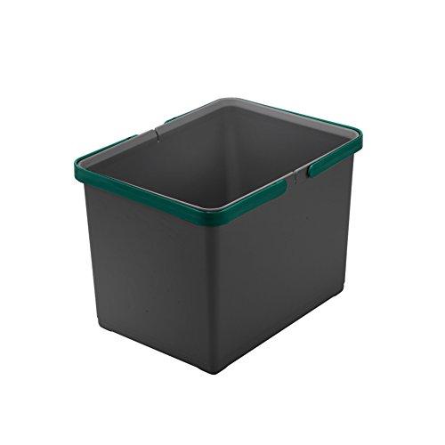 ELLETIPI Abdeckung Box Eimer mit Griff für Mülltonnen Ecofil H22, grau