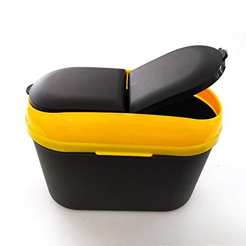 Zubehör for Mode Kreative hängende Auto Abfalleimer Mini-Kunststoff-Aufbewahrungsbox Finishing Speicherkorb, Hängenassveredlung Aufbewahrungsbehälter for kleine und große Autos ( Color : Yellow ) -