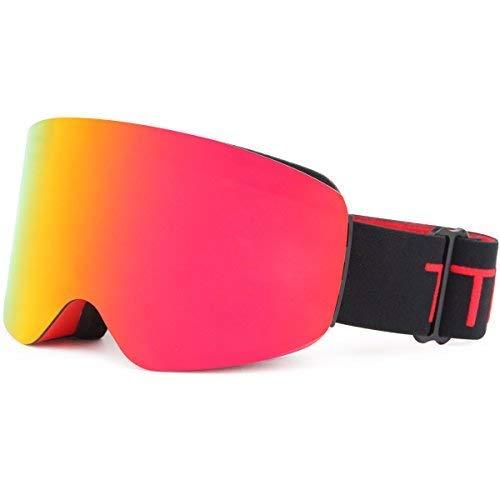 680d3ad5fe TTIO Cylindric Gafas de esquí OTG para Llevar Tus Gafas graduadas, con  antivaho, protección
