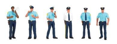 Spur HO - Bachmann 6 Figuren Polizei