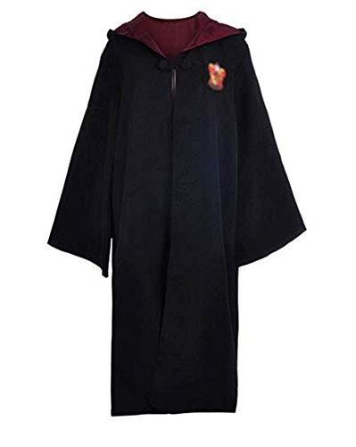Mitef Harry Potter Disfraz De Unisex Gryffindor Ravenclaw Slytherin Hufflepuff Costume Accesorios Gafas + Corbata Cosplay para Adulto, XL