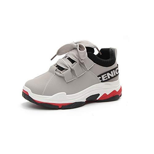 Vansney Femmes Fille PU L'empeigne Casual Chaussures De Course Formateurs Sneakers pour Le Sport Gym Shopping Marche