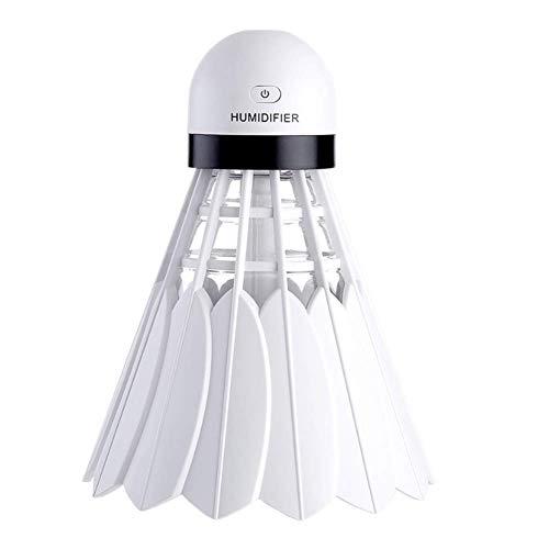 WJ 240ml Ultraschall Badminton Luftbefeuchter, Mini-kaltnebel Ultraschall Auto Luftreinigung Luftbefeuchter, Geeignet Für Yoga/Spa/Baby Zimmer/Wohnzimmer