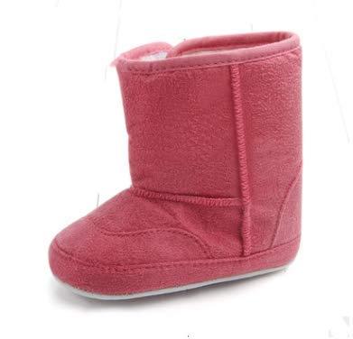 KINGDUO Herbst Und Winter Kreis Unten Baumwolle Baby Kleinkind Schuhe Baby Weiche Unterseite Wildlederstiefel-Rose Rot 14