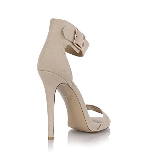 Sole Affair , Bride de cheville femme - Nude Faux Suede