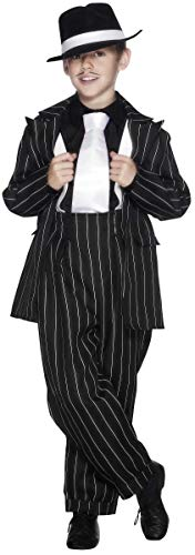 (Smiffys Kinder Zoot Anzug Kostüm, Jackett, Hose und Hosenträger, Größe: M, 25600)
