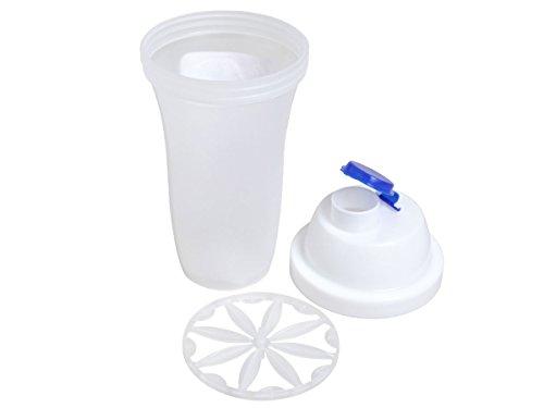 Protein Shake Becher Shaker 500 ml weiß mit Sieb Blender Diät-Shaker Eiweiß Shaker von ALSINO P183/845