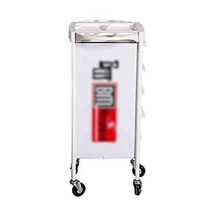 Trolleys 5 Schubladen-Aufbewahrungslaufkatze, für Home Office-Briefpapier und Organisation oder Salon, ABS-Aufbewahrungswagen, Weiß