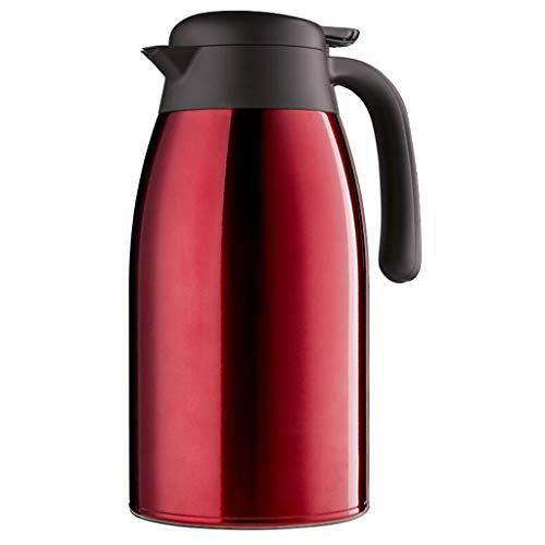 DUHUI POT 2.5L vakuumisolierte Krug-Doppelwand-Edelstahl-thermische Karaffe für Tee, Kaffee, heiße u (Farbe : B) - Kaffee-tee-thermische Karaffe