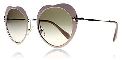 Miu Miu U6I3D0 Pink / Gold 54Rs Round Sunglasses Lens Category 2