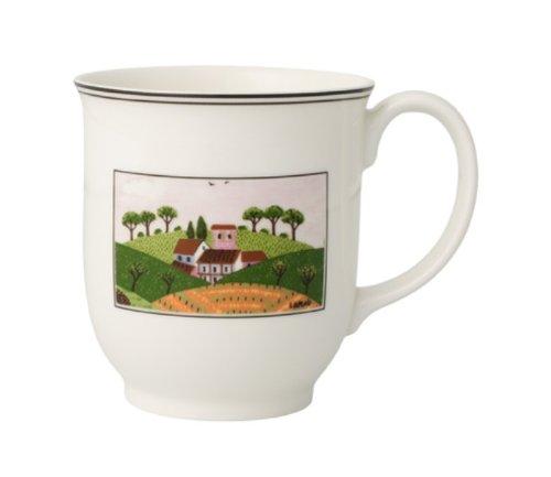 Villeroy & Boch Charm & Breakfast Design Naif Kaffeebecher, 420 ml, Höhe: 9 cm, Premium Porzellan, Weiß/Bunt -