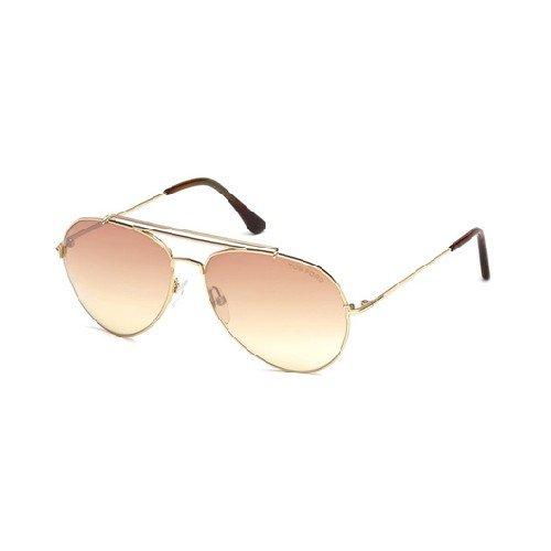 Tom Ford Herren Ft0497-28Z-Silber Sonnenbrille, Silber, 58