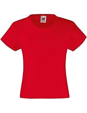 Fruit of the Loom - Camiseta de manga corta - Liso - para niña