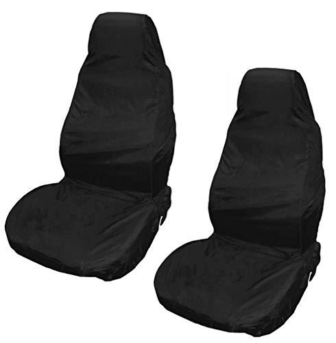 XtremeAuto®, coprisedili anteriori impermeabili per auto (coppia), resistenti agli strappi, in tessuto nero