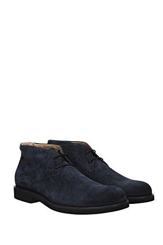 XXM0WP00D80RE0U805 Tod's Chaussure montante Homme Chamois Bleu Bleu