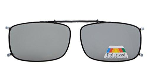 Eyekepper Metallrahmen Rim polarisierte Linse Klipp auf Sonnenbrille grau Linsen