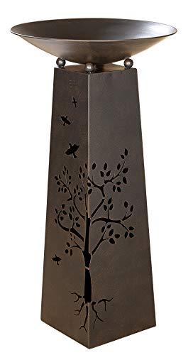 GILDE Metallständer mit Blumen Ausschnitten im Set mit Schale