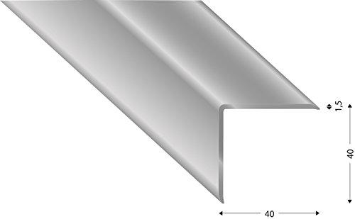 Mauerkantenprofil /Eckschoner aus Aluminium. 150cm lang silber (Aluminium, 40x40x1,5)