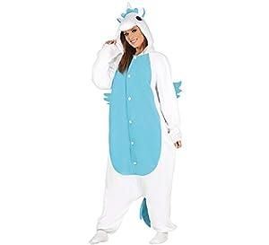 Costume pigiama unicorno azzurro tutone