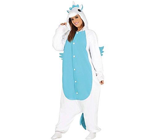 Vestito pigiama unicorno azzurro unica