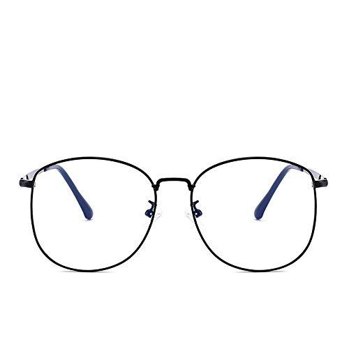 UICICI Metallrunde Brillengestell Anti-Blue Light Brillengestell (Farbe : Schwarz)