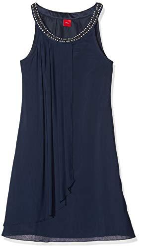 s.Oliver Mädchen 73.911.82.2916 Kleid, Blau (Dark Blue 5952), 170 (Herstellergröße:170/REG)