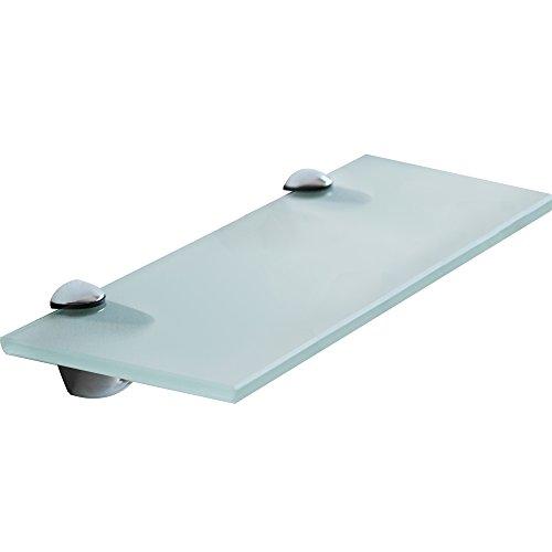 Ein Bad Mit Milch (Melko® Glasablage mit Edelstahl-Halterung - Wandregal Bad & WC - Badablage für Spiegel & Waschbecken - Glasablage für Wohnzimmer & Küche & Flur (80 x 10 x 0.8 cm, Milchglas))