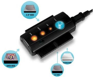 Adaptador USB IDE S-ATA fuente inkl One Touch Backup