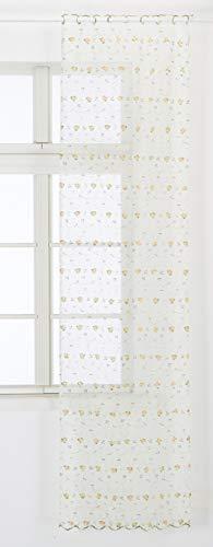 Home collection tclfr119/240 tendina coppia lisa, poliestere, giallo, 60x240 cm, 2 unità