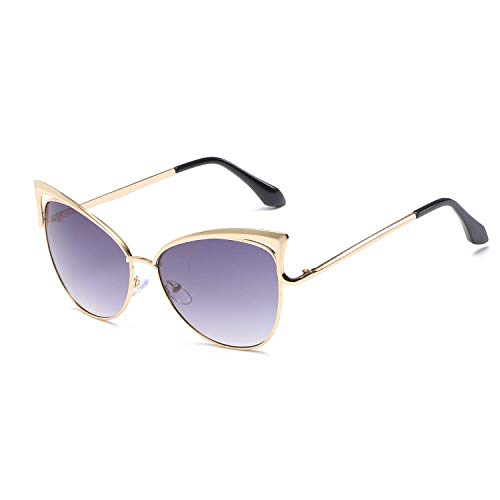 WYJW Für Männer \u0026 Frauen Übergroße Eye Cat Metallrahmen Sonnenbrille Stilvolles Design Mädchen Klassische Retro Designer Stil Sonnenbrille